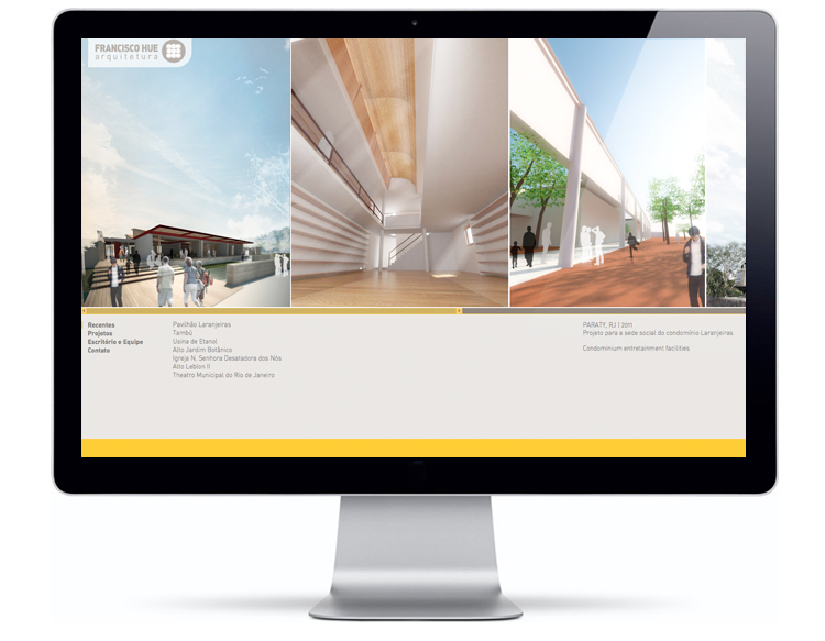 Website Francisco Hue Arquitetura