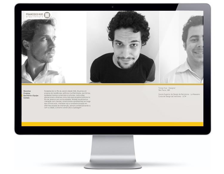 Website Francisco Hue Arquitetura