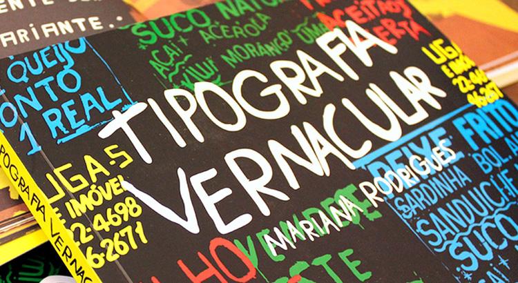 Detalhe Livro Tipografia Vernacular